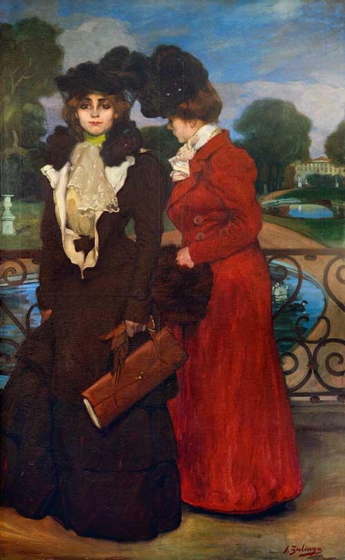 Ignacio Zuloaga. Parisienses (en St. Cloud), 1900. Exposición Zuloaga en Mapfre.