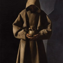 Francisco de Zurbarán. Saint Francis of Assisi in His Tomb, ca. 1635. Milwaukee Art Museum