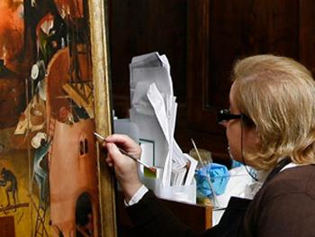 Restauración en el Museo del Prado