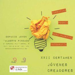 XXII Certamen Jóvenes Creadores. Ayuntamiento de Ávila