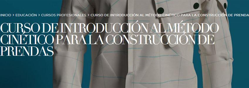 Curso de introducción al método cinético para la construcción de prendas. En el Museo Cristóbal Balenciaga, los días 22 y 23 de septiembre de 2018