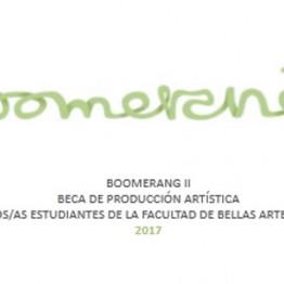 Boomerang II. Beca de producción artística para antiguos estudiantes de la Facultad de Bellas Artes de Altea