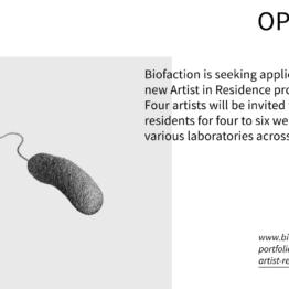 Programa Artistas en Residencia. Biofaction