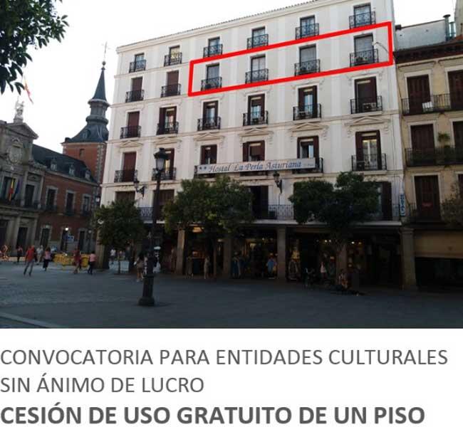 Cesión de uso gratuito de una vivienda para la realización de residencias culturales. Comunidad de Madrid