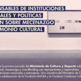 Jornada de Patrimonio Cultural y Mecenazgo 2019