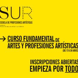 Curso Fundamental de Artes y Profesiones Artísticas en la Escuela SUR