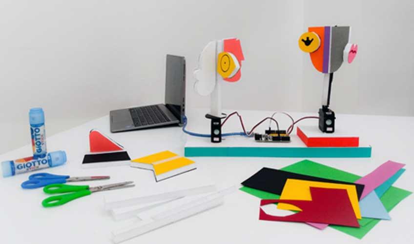 Escultura mecánica. Taller de arte y robótica para familias en el Museo Picasso de Málaga
