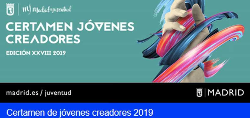Certamen de Jóvenes Creadores 2019. Ayuntamiento de Madrid