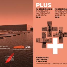 Residencias PLUS de creación e investigación en arte contemporáneo. Convoca el Museo de la Universidad de Alicante. Inscripción hasta el 10 de junio de 2018
