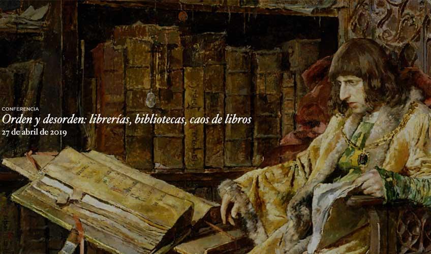 Orden y desorden: librerías, bibliotecas, caos de libros. Museo del Prado