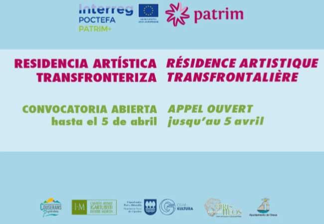 Convocatoria de proyectos para la Residencia artística transfronteriza PATRIM+