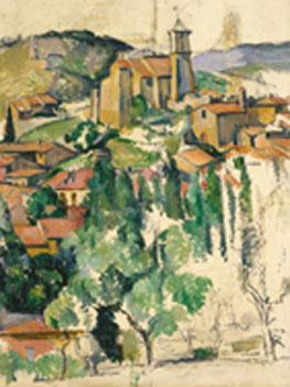 Paul Cézanne. El pueblo de Gardanne, hacia 1886