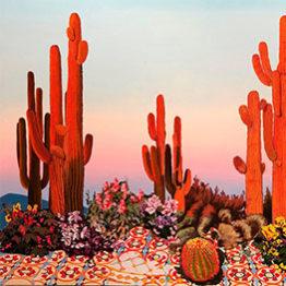 Alejandra Atarés. Cactus Naranja, 2018 Óleo y acrílico sobre lino 170 x 200 cm Victor Lope Arte Contemporaneo Barcelona, España