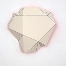 Tono Barreiro. Black sqare serie. Flexia 9, 2018. Esmalte sobre aluminio. 65x65x11. Galería Shiras. Art Madrid 2020