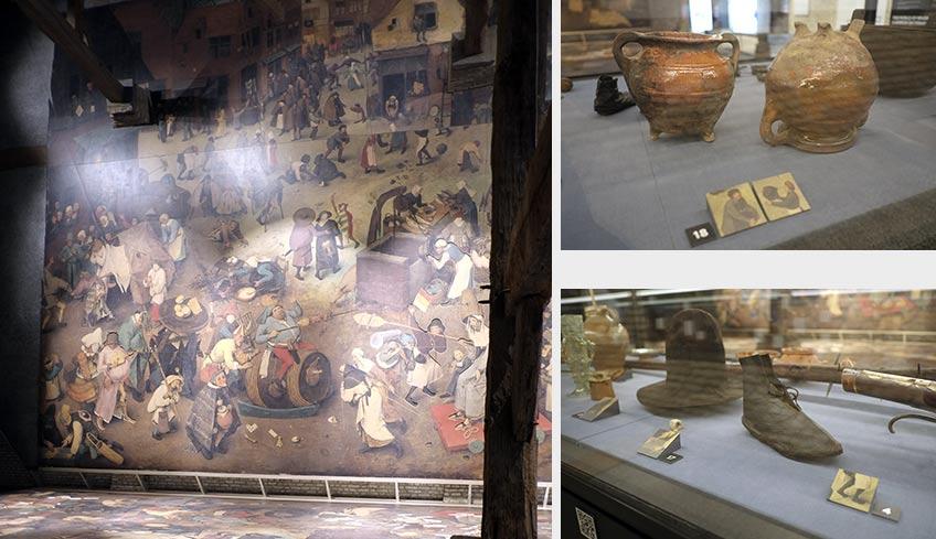 Instalación en torno a la reproducción de la obra El combate entre don Carnaval y doña Cuaresma, de Pieter Bruegel
