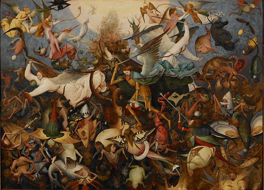 Pieter Bruegel. Caída de los ángeles rebeldes (1562). Museos Reales de Bellas Artes de Bruselas (Bélgica)