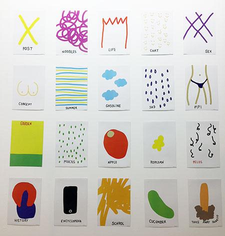 Aggtelek (Xandro Vallés y Gema Perales) One Second Paintings, 2018 Impresión sobre papel Ponce + Robles (Madrid)