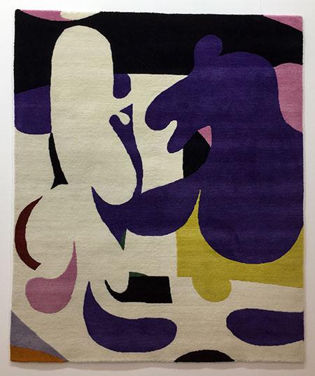 Katja Angeli Encounter, 2018 Tapiz hecho a mano 150 x 130 cm. f2 galería (Madrid)