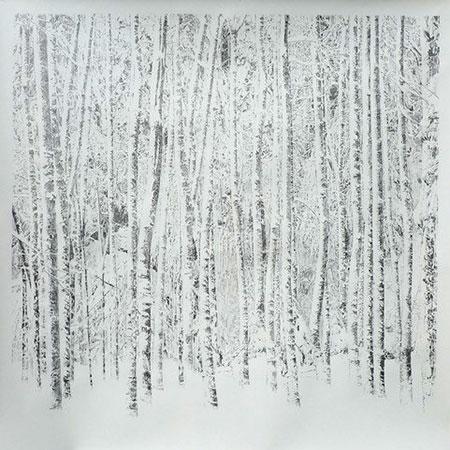 Ramón Surinyac Vertical Pattern, 2018 Grafito sobre papel 150 x 150 cm. 3 Punts Galería (Barcelona)