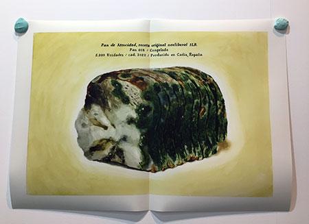 Tania Blanco Pan de atrocidad, 2018 Impresión inkjet sobre papel a partir de acuarela. Ed. 2 + 1 PA / AP 77 x 110 cm. JosédelaFuente (Santander)