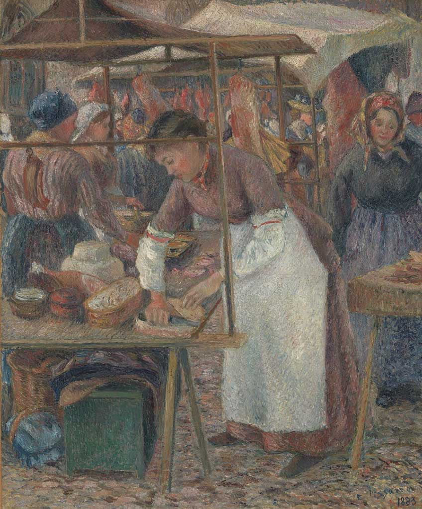 Camille Pissarro. La carnicera, 1883. The National Gallery, Londres