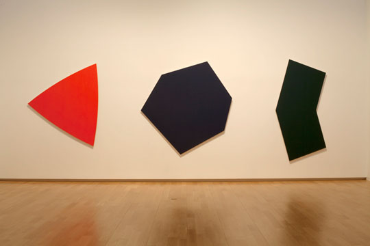 Ellsworth Kelly, Dark Blue Panel, Dark Green Panel, Red Panel