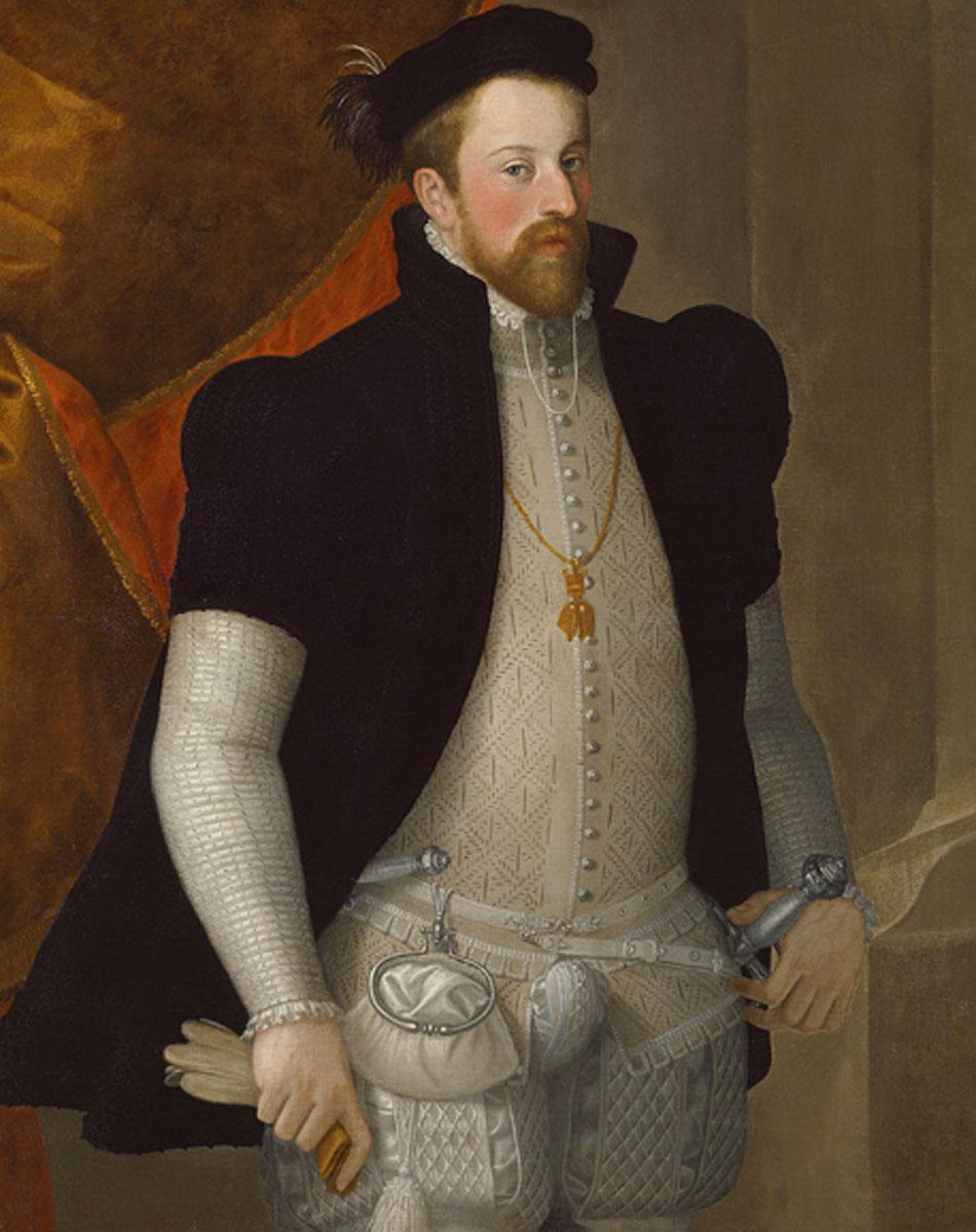 Francesco Terzio. Fernando II de Austria, hacia 1557