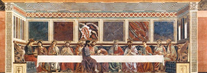 Andrea del Castagno. Última Cena de Santa Apollonia, 1445-1450