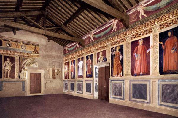 Andrea del Castagno. Hombres y mujeres ilustres en la Villa Carducci, hacia 1450