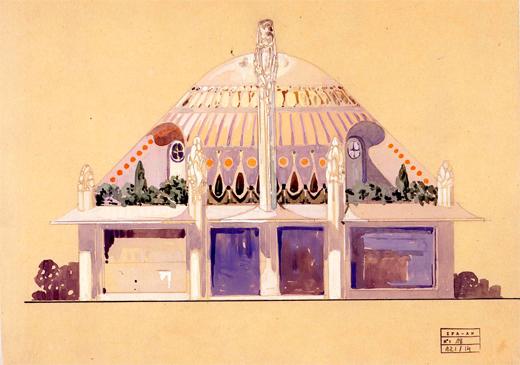 Henry Sauvage. Pabellón Primavera de la Exposición Internacional de Artes Decorativas Modernas, 1925