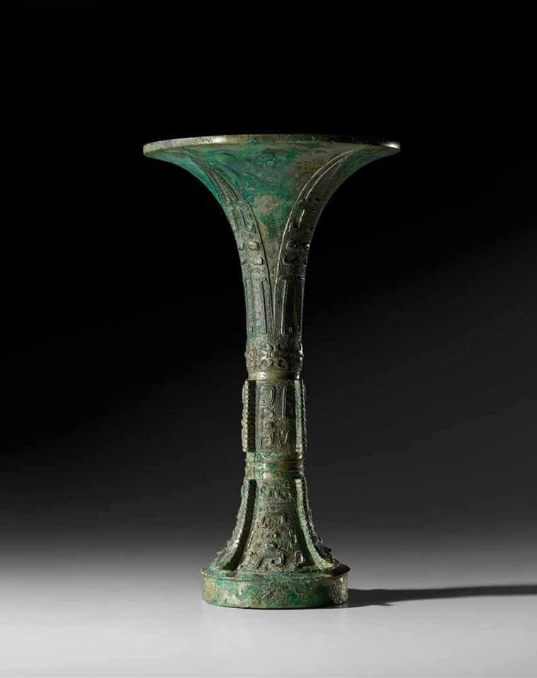 Gu, dinastía Shang, siglos XIV-XI, a.C. Musée Guimet