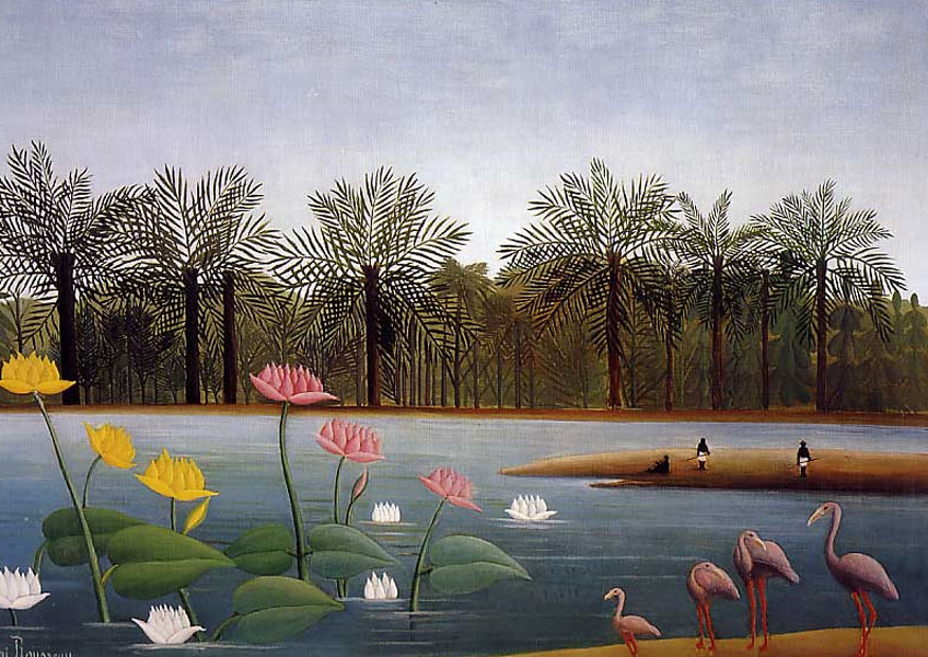 Henri Rousseau. The Flamingoes, 1907. Colección privada