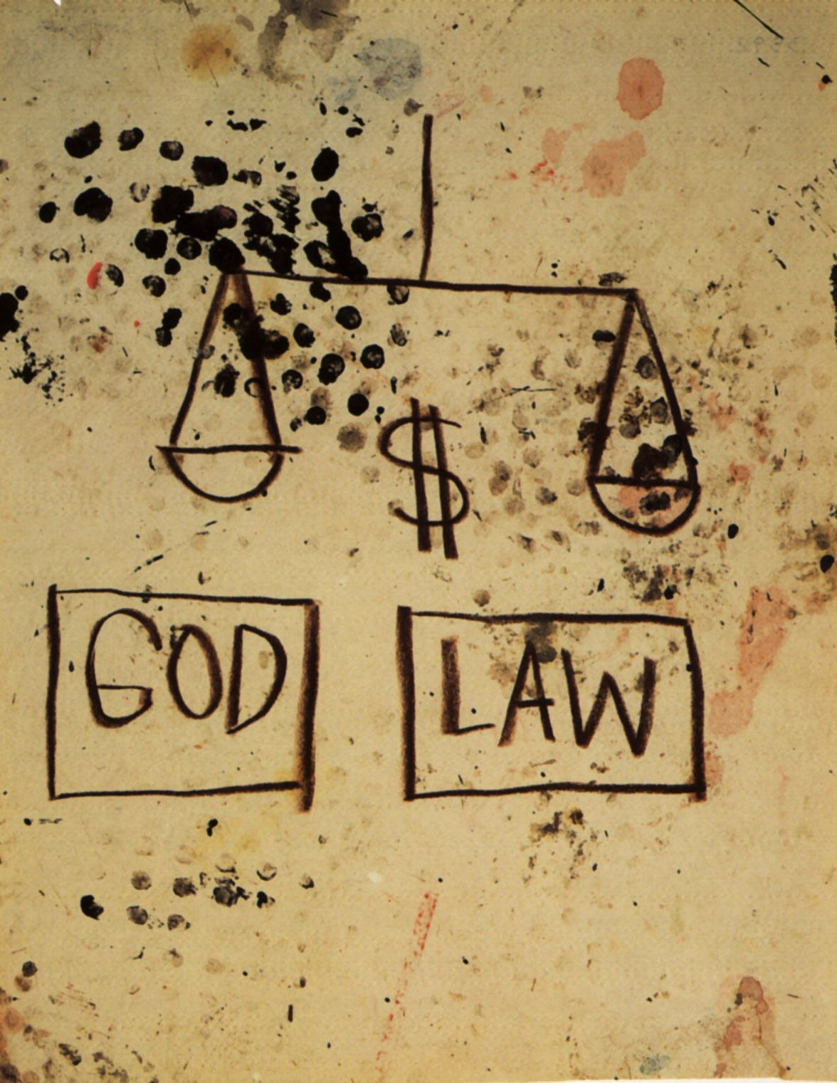 Basquiat. God, Law, 1981