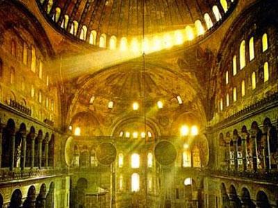 Interior de Santa Sofía de Constantinopla