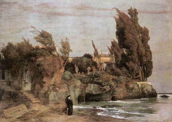 Böcklin. Villa al borde del mar, 1864