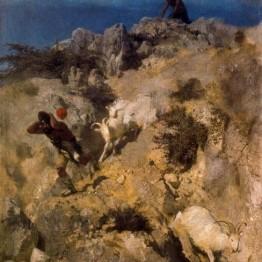 Böcklin. Pan asustando a un pastor, 1859