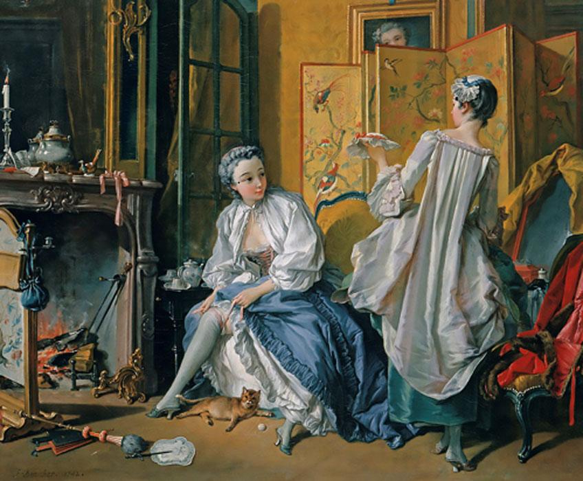 François Boucher. La toilette, 1742. Museo Nacional Thyssen-Bornemisza