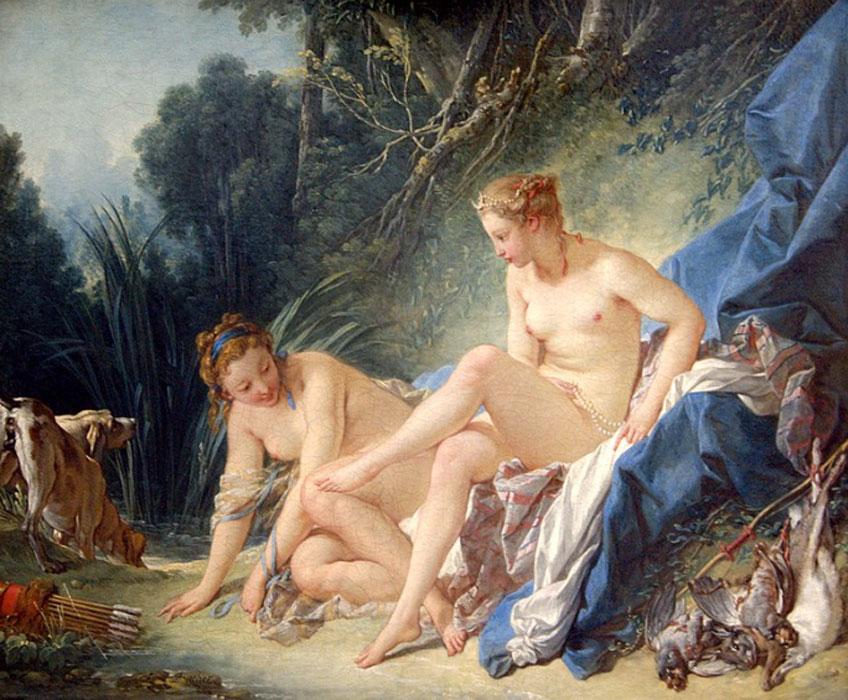 Boucher. Diana saliendo del baño, 1742. Museo del Louvre