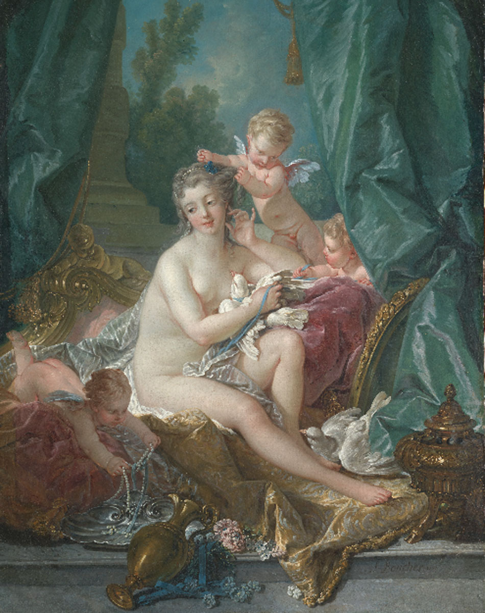 François Boucher. La toilette de Venus, 1751. Metropolitan Museum