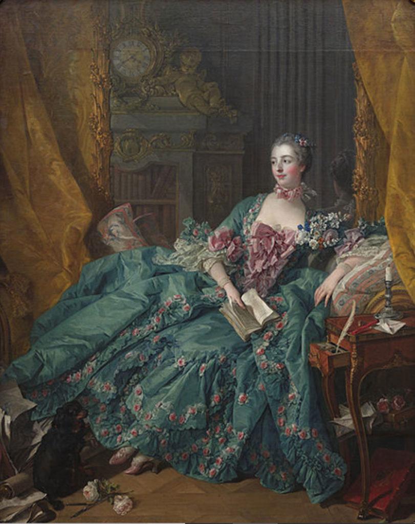 François Boucher. Madame de Pompadour, 1756. Pinacoteca Antigua de Múnich