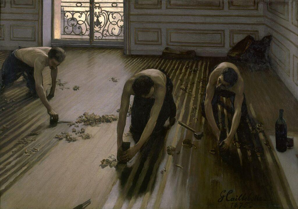 Gustave Caillebotte. Los cepilladores del parqué, 1875. Musée d´Orsay