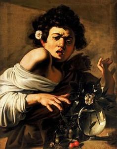 Caravaggio. Muchacho mordido por un lagarto, 1593-1594