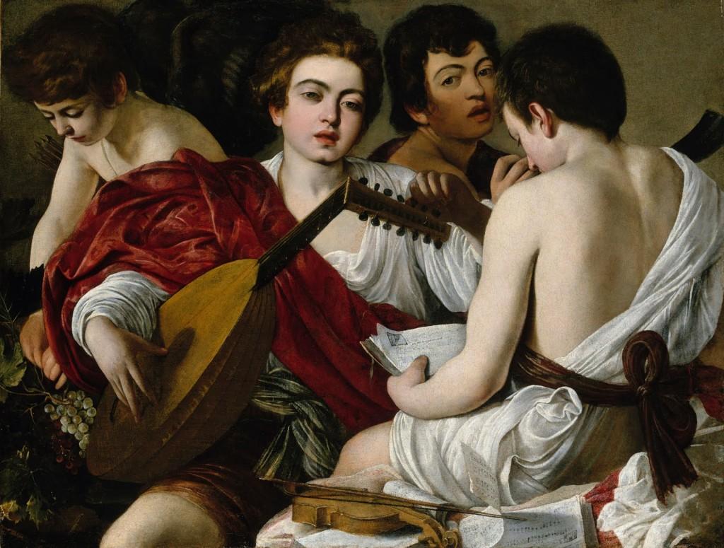 Caravaggio. Los músicos, 1594-1595