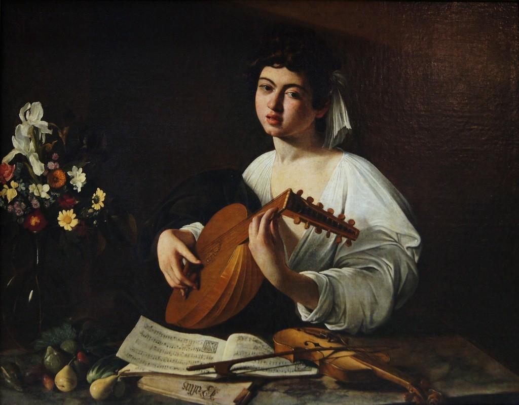 Caravaggio. El tañedor de laud, 1595