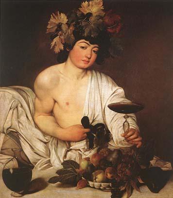 Caravaggio. Baco, 1596-1598