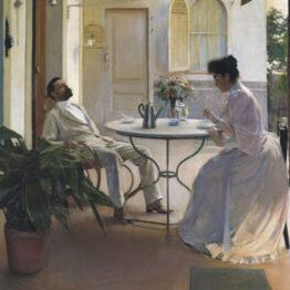 Ramón Casas. Interior al aire libre, 1892. MNAC, Barcelona