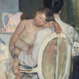 Mary Cassatt. Mujer sentada con un niño en sus brazos, 1890. Museo de Bellas Artes de Bilbao