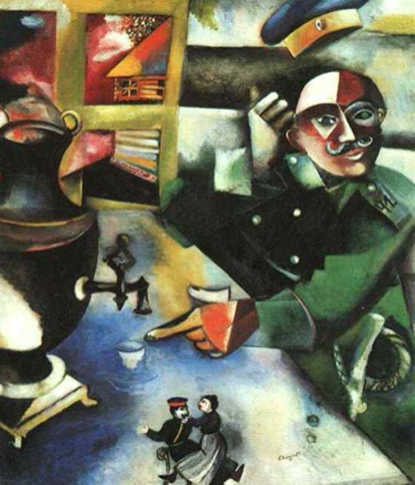 Marc Chagall. El soldado ebrio, 1911-1912. Solomon R. Guggenheim Museum