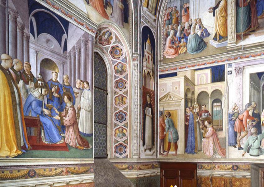 Fra Angelico en la Capilla Nicolina, hacia 1448