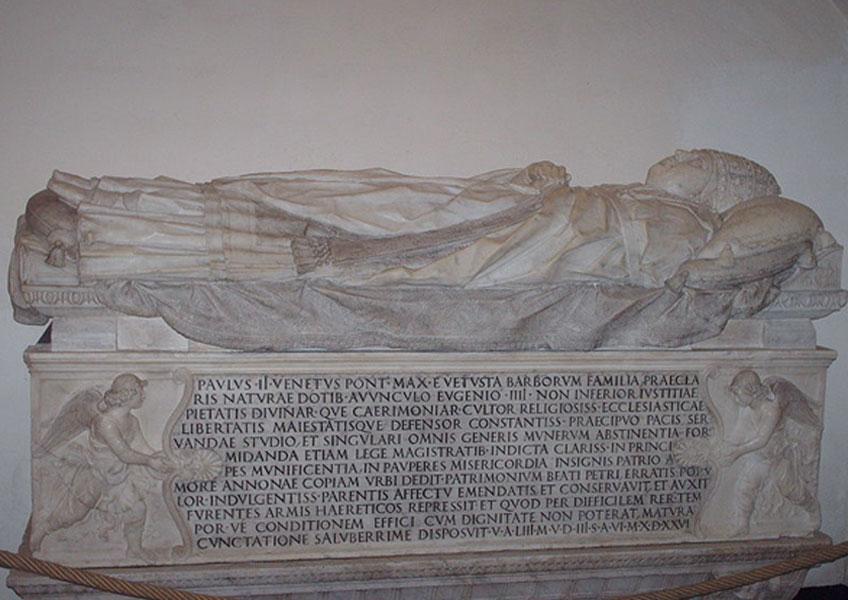 Tumba de Paulo II en las grutas vaticanas